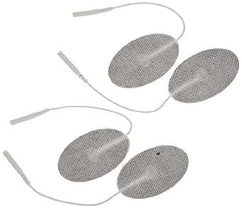 "3B Scientific W63212 Comfort-Stim Elite White Spunlace Electrodes, 2.5"" Length x 1.5"" Width"