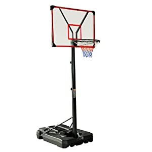 Buy 10' Clear Acrylic Adjustable Height Indoor Outdoor Portable Basketball Hoop by Aosom