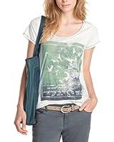 edc by ESPRIT Damen T-Shirt 073CC1K042, Rundhals