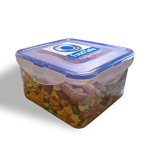 Food Storage Container By Food Safe Large Capacity Airtight Sealed Locking Lid Premium Kitchen Storage Container. This Container Is Perfect For Long Term Storing Nuts, Pet Food, Fruit, Sandwiches And More 100% Guaranteed Quality 1.25 Liter