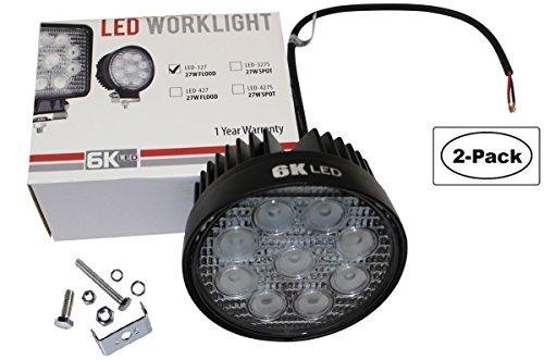 """LED 4"""" round spot light off road Rack Bar lighting 4x4 Trucks ATV UTV Rhino 12volt 2pack Combo"""