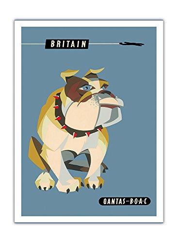 grande-bretagne-royaume-uni-chien-bulldog-anglais-qantas-empire-airways-qea-compagnie-aerienne-boac-