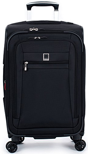 delsey-luggage-helium-hyperlite-carry-on-expandable-spinner-trolley-black-one-size