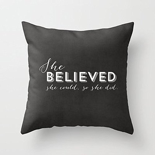 Autumn Coming She Believed She Could So She Did - Chalkboard Throw Pillow By Allyson Johnsonfor Your Home