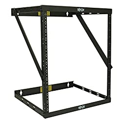Tripp Lite 8U/12U/22U Expandable Wall-Mount 2-Post Open Frame Rack, Adjustable Network Equipment Rack, Patch Depth, 5.75