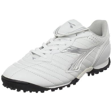 Diadora Women's Scudetto LT Turf Soccer Furf,White/Silver/Black,5  M US