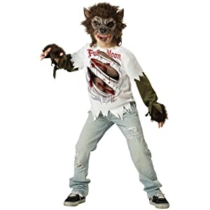InCharacter Costumes, LLC Boys 8-20 Werewolf Mask and Shirt Set, Multi Color, XX-Large