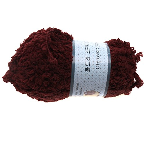 Heng Song - Baby Knitting Wool Craft Yarn Softy Chenille Craft Knit Towel Scarves Sweater (Coffee) front-591448