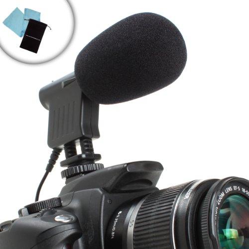 AudioBOOM Professional DV Camera / Camcorder Video Condenser Shotgun Microphone with Shock Mount for Fujifilm FinePix HS50EXR , X-S1 , X-M1 / Panasonic DMC-GH3 & More!