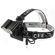 3500lm 2x Cree Xm-l T6 LED Head Front Bicycle Lamp Bike Light Headlight Headlamp