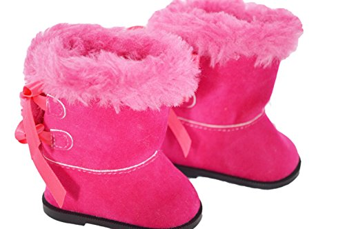 PINK MODERN BOOTS FOR AMERICAN GIRL DOLLS AND BITTY TWINS