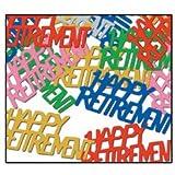 Beistle 50646-MC Happy Retirement Fanci-Fetti, Multicolored