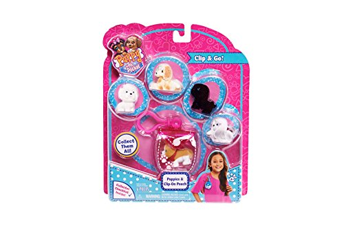 Puppy In My Pocket 48182 Puppies with Clip-on Pouch Toy Figure - 1