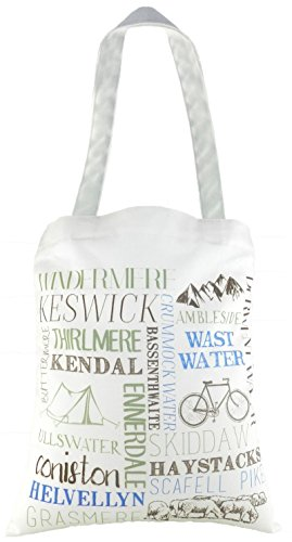 EVANS LICHFIELD MADE IN UK 100% COTTON TOTE CLOTH SHOPPING BAG PLACES LAKE DISTRICT WINDERMERE KENDAL