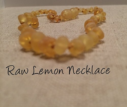 Baltic Amber Teething Necklace For Babies And Toddlers Raw Lemon front-282563