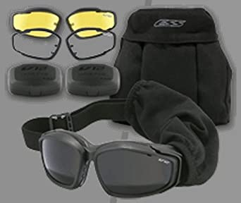 ESS Eye Safety Systems Advancer V-12 Protective Goggles 3 Lens Softcase