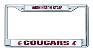 Buy NCAA Washington State Cougars Chrome License Plate Frame by Rico
