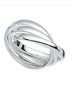 Sterling Silver bague de mariage russe: Amazon.fr: Bijoux