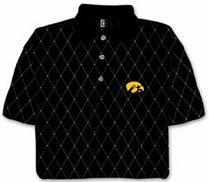 Iowa Hawkeyes Chiliwear Printed Pique Size: Medium Black by Chiliwear LLC