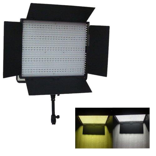 CanadianStudio Bi Color 1200 LED Light Panel With Dimmer Switch 16V AC DC 110V to 240V battery mount LED Video Lighting With V Mount Plate