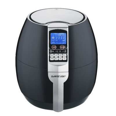 GoWISE USA GW22611 GoWISE USA 8-in-1 Electric Air Fryer with Digital Programmable Cooking Settings 3.2 QT Black, Black