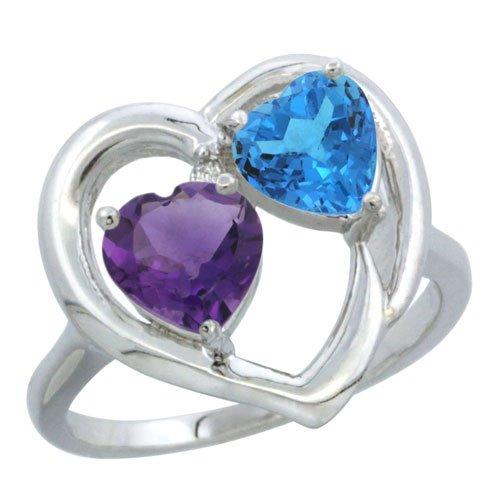 Natural Blue Diamond Engagement Rings