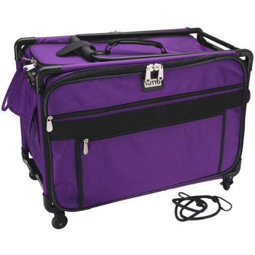 XL Purple Mascot Tutto Monster Sewing Machine on Wheels Carrier Case