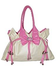 Best Seller Beautiful/Stylish Pink & Off White Color Women's Handbags. Top/Hot Selling Cool Handbag
