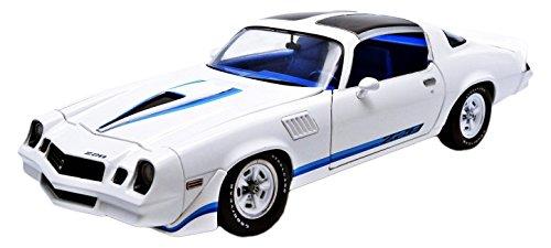 1979 Chevrolet Camaro Z/28 White with Blue Stripes 1/18 by Greenlight 12903 (White Camaro compare prices)