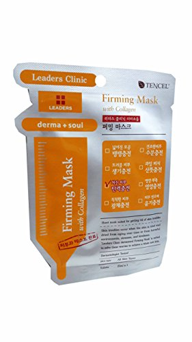 4 Mask sheets of Leaders Clinic Derma + Soul Firming Mask with Collagen. (25 Ml/ sheet) (Human Hair Freeze compare prices)