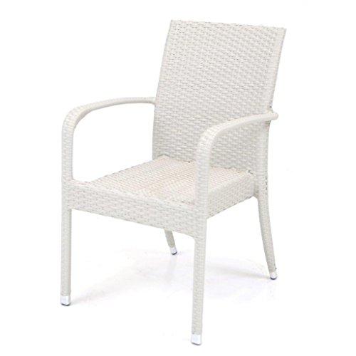 Poltrona sedia con braccioli Ibiza in polyrattan arredamento esterno M0902-08