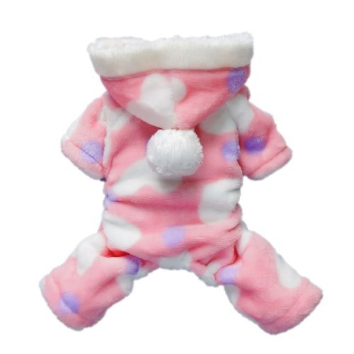 Pink Sweetie Dog Coat for Dog Clothes Dog Jumpsuit Soft Cozy Pet Clothes,M