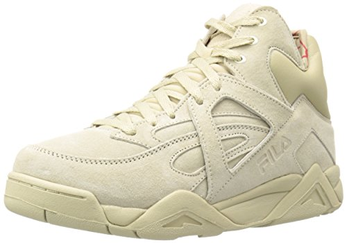 Fila Men's The Cage Fashion Sneaker, Fila Cream/Fila Red, 10.5 M US