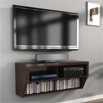 price tracking for 42 espresso wall mounted component media stand for under tv price. Black Bedroom Furniture Sets. Home Design Ideas
