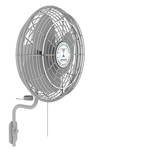 Misting Fan System 24 Inch - With High Pressure Misting Pump 1500 PSI - Applications include patio misting, restaurant and industrial misting