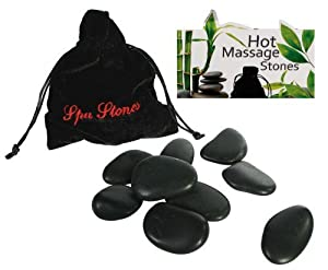 Luxury Hot Stones Massage Set (9 stones Provided) - Your very own Spa Treatment at Home - Womans Perfect Ideal Christmas Present / Gift / Stocking Filler Ideal Gift for The Gardener