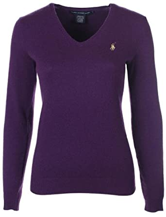 ralph lauren damen pullover kaschmir gemisch violett gr e xl. Black Bedroom Furniture Sets. Home Design Ideas