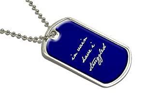 In Vain I Have Struggled - Jane Austen Mr Darcy - Military Dog Tag Luggage Keychain