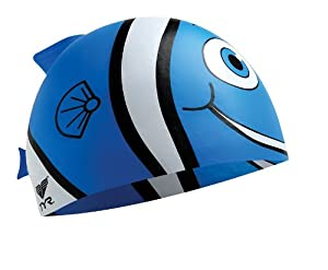 Fish Fins Junior Silicone Cap (Blue)