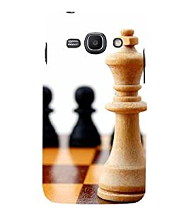 two pawns and one king of chess 3D Hard Polycarbonate Designer Back Case Cover for Samsung Galaxy Ace 3 :: Samsung Galaxy Ace 3 S7272