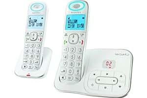 Alcatel Versatis XL350 version Voice duo Téléphone sans fil numérique avec répondeur + Combiné supplémentaire Blanc