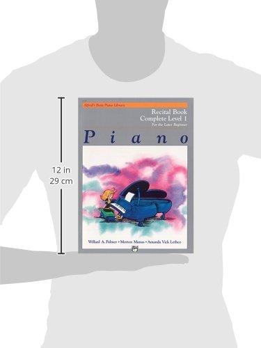Alfred's Basic Piano Course Recital Book: Complete 1 (1a/1b) (Alfred's Basic Piano Library)