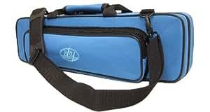 """Sky """"C"""" Flute Lightweight Case with Shoulder Strap (Sky Blue)"""