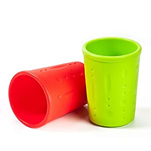Kinderville Little Bites Cups (Set of 2, Red / Green)