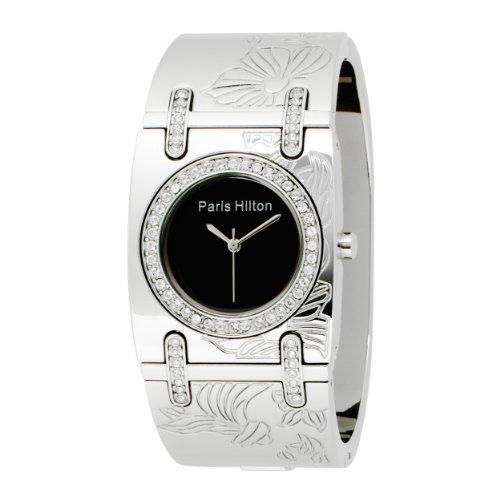 Paris Hilton Women's 138.4467.60 Bangle Black Dial Watch