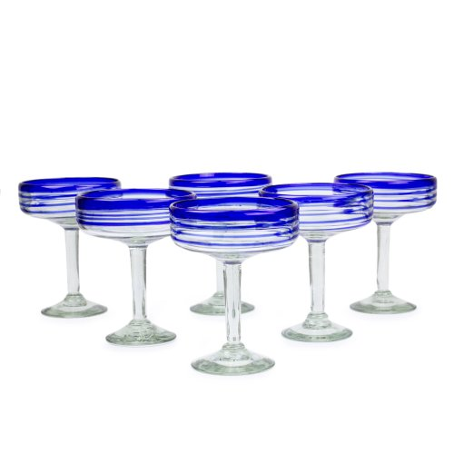 Bicchieri per Margarita,, 'Cobalt Spirals'(set da 6)
