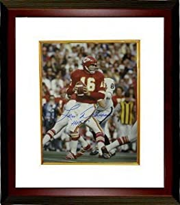 Len Dawson Autographed Hand Signed Kansas City Chiefs 16x20 Photo Custom Framed HOF87 by Hall of Fame Memorabilia