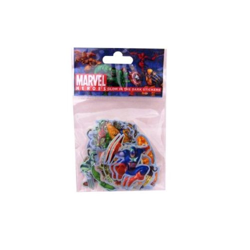 Marvel Heroes Glow in the Dark Stickers (Package of 36) - 1