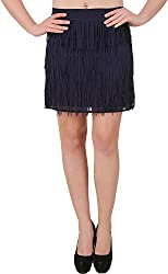 Petipack Women's Skirt (PP041, Blue, Large)