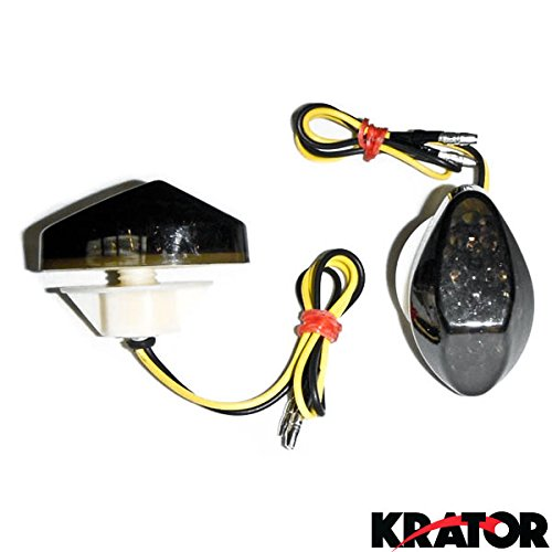 Krator Flush Mount LED Turn Signals Indicators Smoke Lens For 1997-2006 Honda CBR 600 F3/F4/F4i (Honda Cbr F3 compare prices)